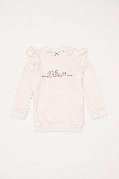 Kız Bebek Baskılı Selanik Kumaş Sweatshirt