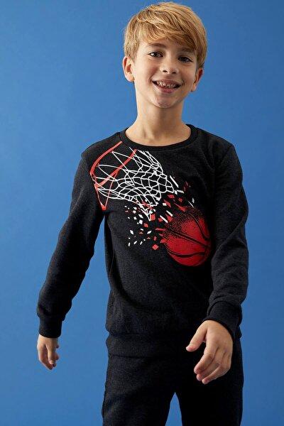 Erkek Çocuk Baskılı Sweatshirt Ve Jogger Eşofman Alt Takım