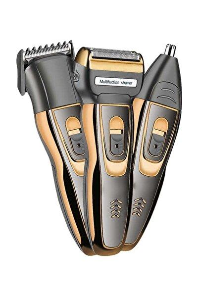 3 In 1 Profesyonel Saç Sakal Kesme Ense Burun Tıraş Makinesi Seti - Bal Yp4a41ad