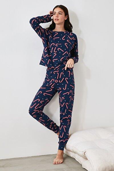 Baskılı Örme Pijama Takımı THMAW21PT0771
