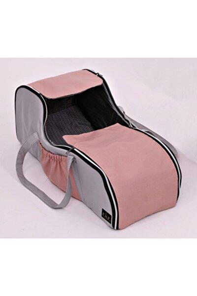 Gri Pembe Portbebe Ana Kucağı Puset Bebek Taşıma