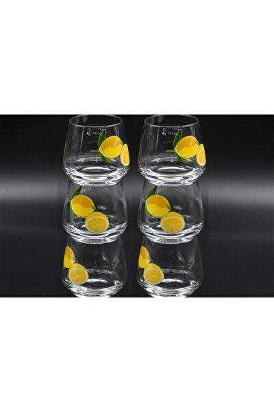 Lal 361 Limon Desen 6'lı Meşrubat Bardağı
