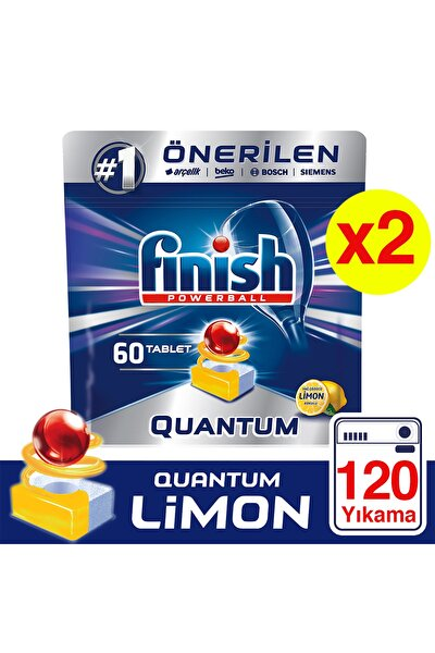 Quantum 120 Tablet Bulaşık Makinesi Deterjanı Limon (60x2)