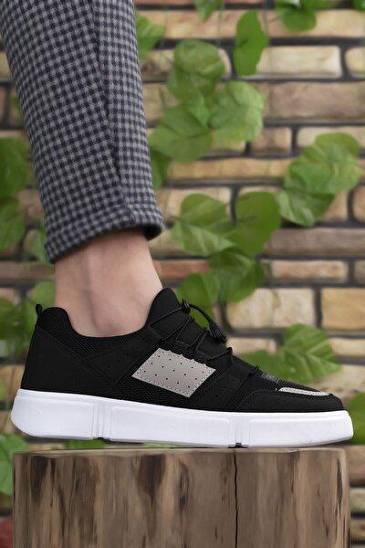 Erkek Siyah Buz Beyaz Sneaker 00122023