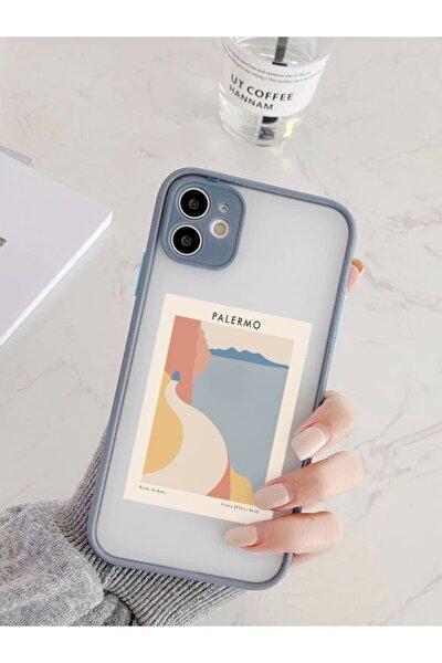 Iphone 11 Uyumlu Füme Kamera Lens Korumalı Palermo Desenli Lüx Telefon Kılıfı