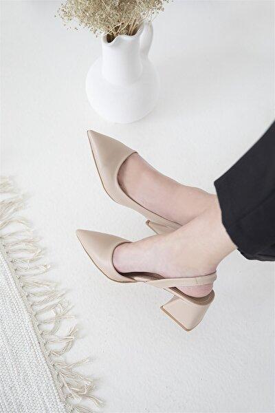Kadın Ten Rengi Selinda Deri Topuklu Ayakkabı
