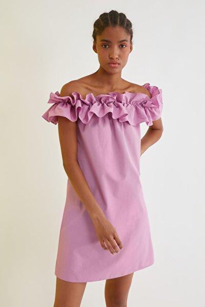 Lila Carmen Yaka Elbise TWOSS21EL1610