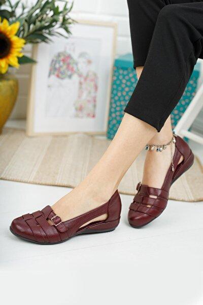 Hakiki Deri Kadın Kapalı Sandalet