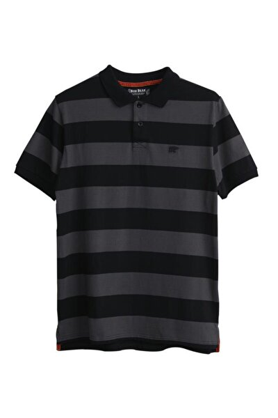 Erkek Siyah Polo Yaka Tshirt 21.01.07.027.os