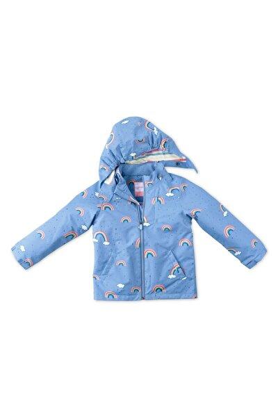 Unisex Çocuk Mavi Yağmurluk