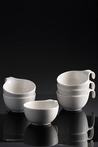 La Pure 6'lı Porselen Geniş Sunum Sosluk - 11 Cm