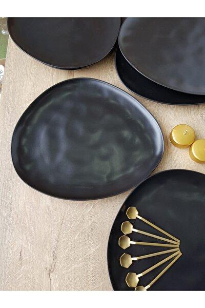 Mat Siyah Trior Organik 32 cm Kahvaltı Takımı