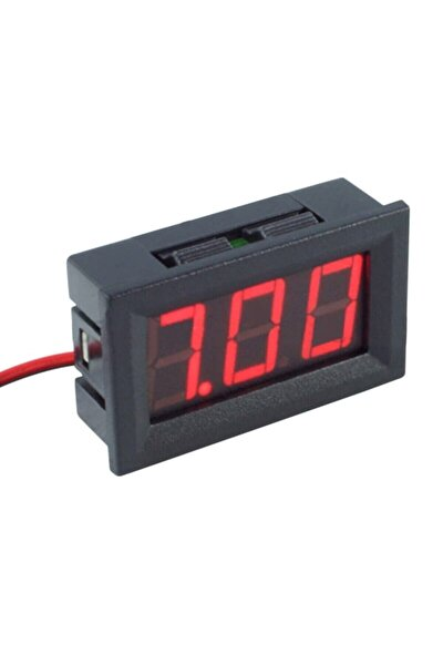 0.56 Inch Dc 0-30v Panel Tip Dijital Kırmızı Voltmetre Kırmızı