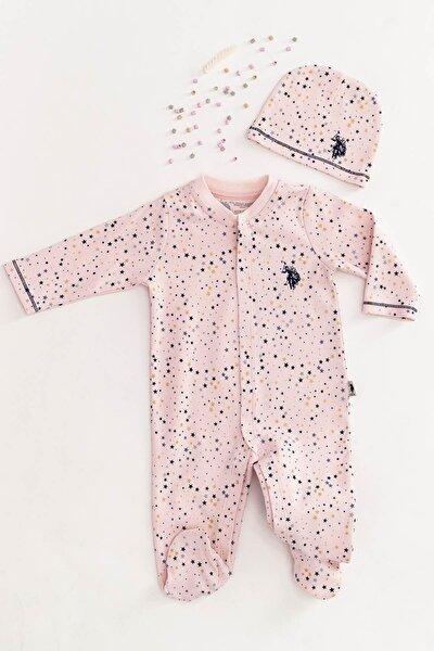 U.s. Polo Assn Lisanslı Tozsomon Bebek Tulum Takım