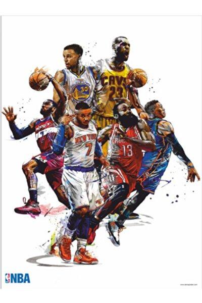 Basketbolcular 70 Cm X 100 Dev Kuşe Poster (silindir Kolili Kargo Ile)
