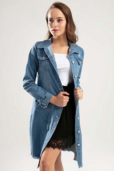 Kadın Uzun Kot Ceket Y20s110-0646