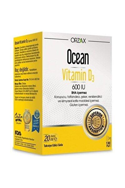 Ocean Vitamin D3 600 Iu Sprey 20ml Skt:05/2022