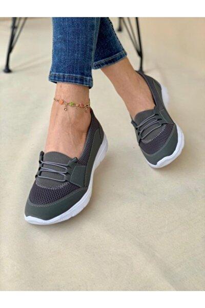 Kadın Gri Ortopedik Günlük Ayakkabı