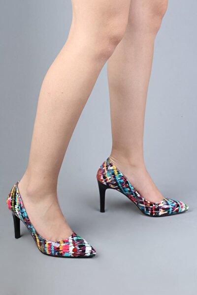 Kadın Çok Renkli Stiletto Ayakkabı - Anger