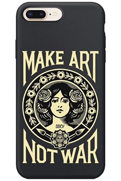 Iphone 8 Plus Lansman Make Art Not War Desenli Telefon Kılıfı