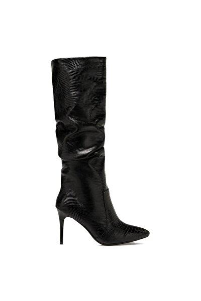 SISSO Siyah Kadın Ökçeli Çizme 100582115