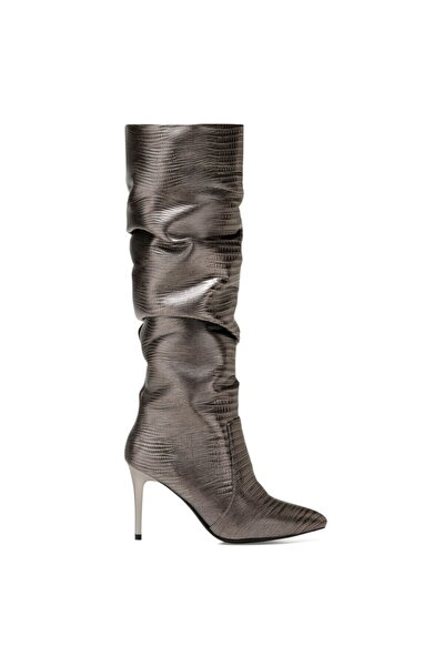 SISSO2 Antrasit Kadın Ökçeli Çizme 100582118