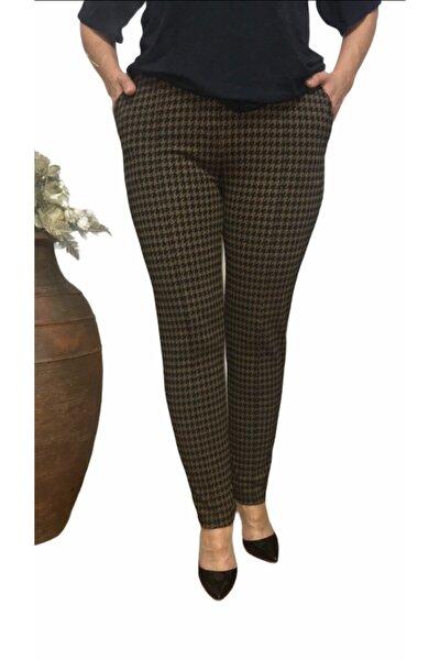 Kadın Siyah Kazayağı Kışlık Pantolon