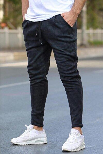 Erkek Siyah Ekoseli  Eşofman 4219