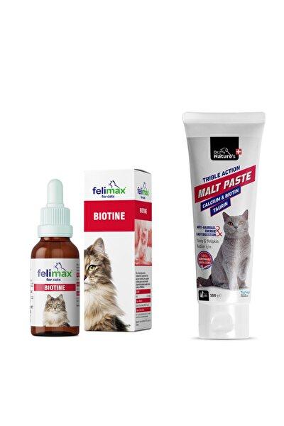 Kediler Için Biotin 50 ml + Malt 100 ml