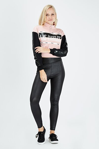 Kadın Siyah Pembe Sweatshirt
