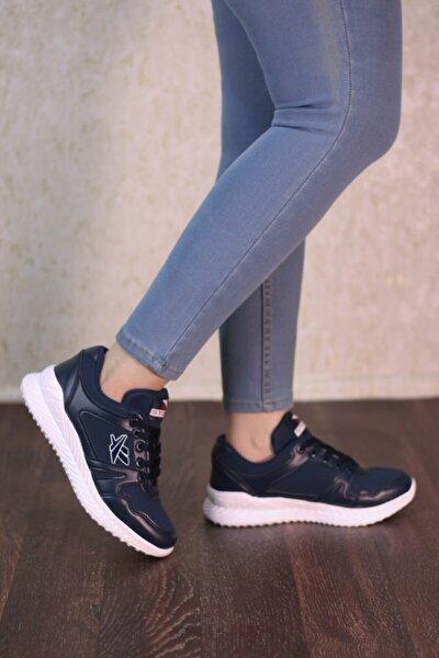 Lacivert Beyaz Unisex Spor Ayakkabı