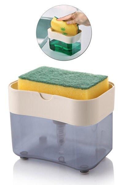 Akrilik Lüx Üsten Basmalı Bulaşık Deterjanlığı Ve Süngerliği