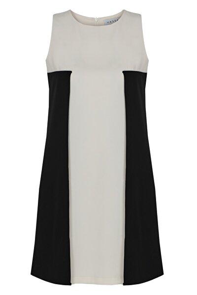 Kadın Siyah Beyaz Zeta Elbise