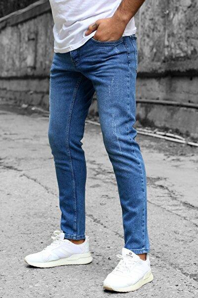 Erkek Koyu Mavi Jean 90242