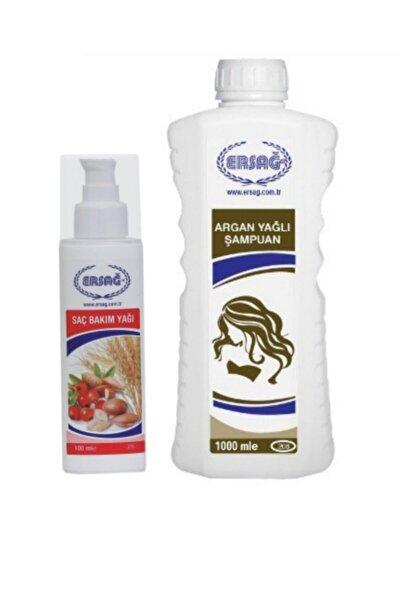 Argan Yağlı Şampuan 1000 ml+ Saç Bakım Yağı 100 ml