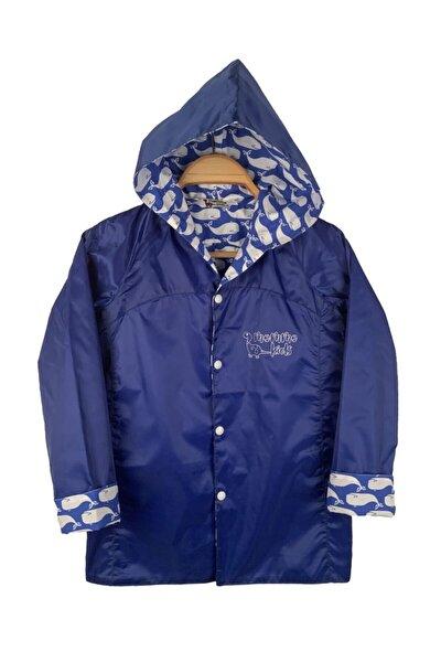 Unisex Çocuk Mavi Yağmurluk Rüzgarlık
