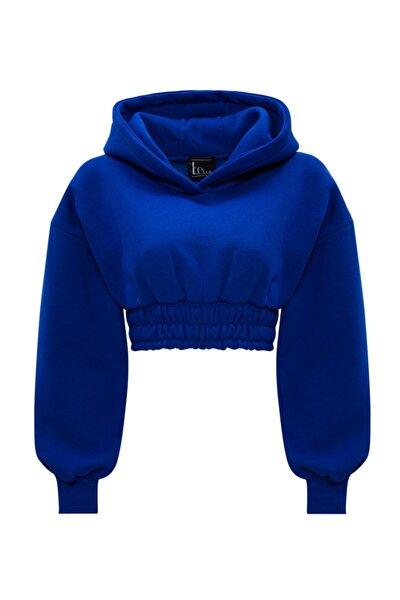 Kadın Mavi Crop