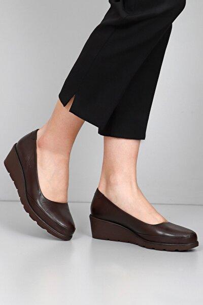 Hakiki Deri Kahve Antik Kadın Günlük (Casual) Ayakkabı 24089
