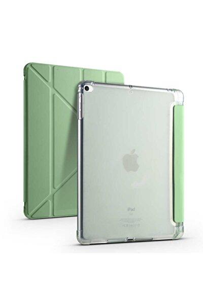 """Apple Ipad 9.7"""" Inc 5. 6. Nesil 2017 2018 Kılıf Premium Kalemlikli Standlı Katlanabilir Kılıf Trifol"""
