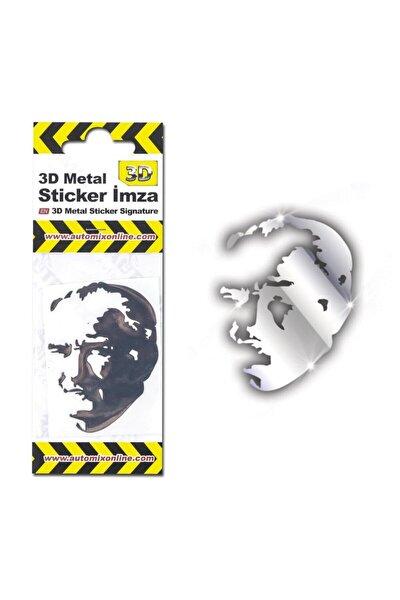 3d Metal Sticker Siluet