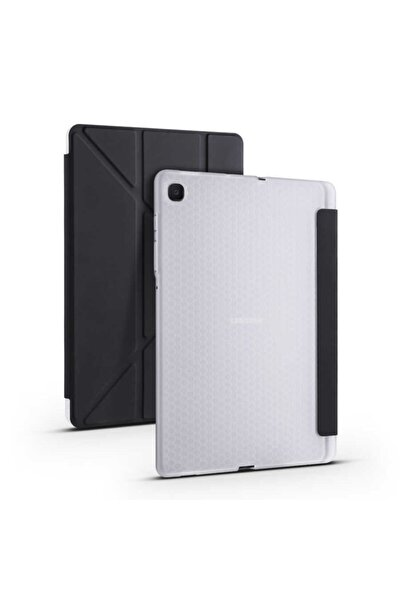 "Samsung Galaxy Tab S6 Lite Sm-p610 10.4"" Kalem Bölmeli Smart Standlı Yumuşak Silikon Koruma Kılıf"