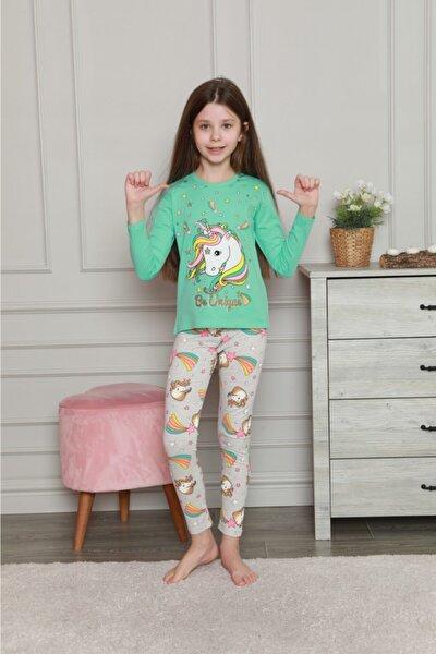 Kız Çocuk Unicorn Desen Alt Üst Pijama Takım