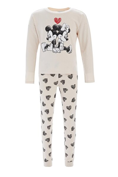 Kız Çocuk Pembe Minnie Mouse Lisanslı Pijama Takımı