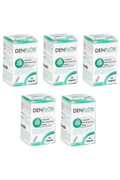 Denflor Probiyotik 10 Kapsül - 5'li Paket