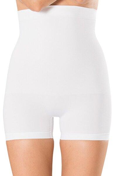Kadın Beyaz Duble Etkili Mini Boxer Korse 1055