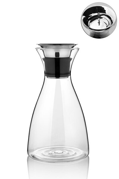 1600 ml Cam Sürahi Karaf Cam Sürahi Her Yöne Akabilen 25 Cm
