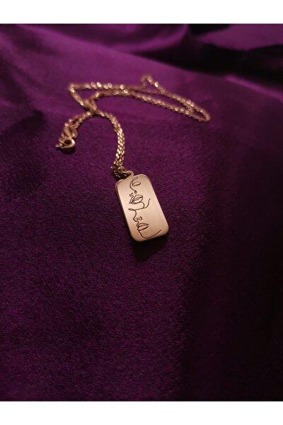 Silüet Kolye Rose Gold Kaplama 925 Ayar Gümüş Kolye