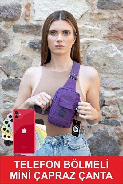 Telefon Bölmeli Mini Çapraz Çanta