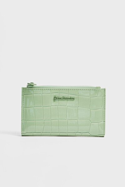 Kadın Yeşil Rugan Görünümlü Cüzdan 00645001