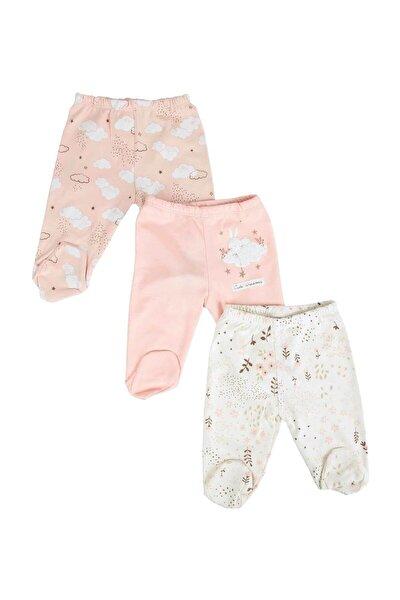 Somon Kız Bebek Bulutlu Çiçekli 3'Lü Takım